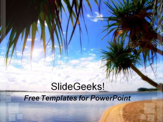 Beautiful Beach View PowerPoint Template