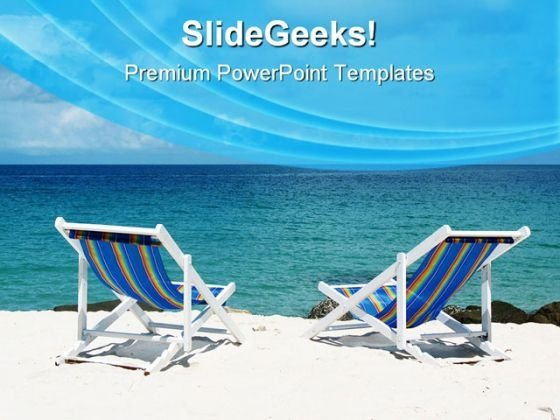 Beach Deck Chairs Vacation PowerPoint Themes And PowerPoint Slides 0511