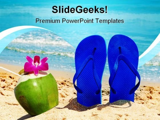Beach Enjoy Nature PowerPoint Template 1110