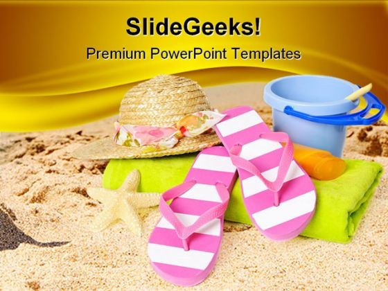 Beach Items Holidays PowerPoint Themes And PowerPoint Slides 0511