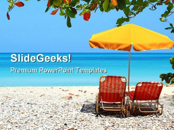 Beach Relax Holidays PowerPoint Templates And PowerPoint Backgrounds 0411