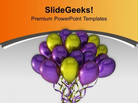 Beautiful Balloons For Celebration Theme PowerPoint Templates Ppt Backgrounds For Slides 0413