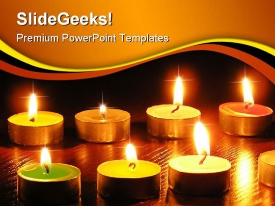 Beautiful Candles Festival PowerPoint Themes And PowerPoint Slides 0411