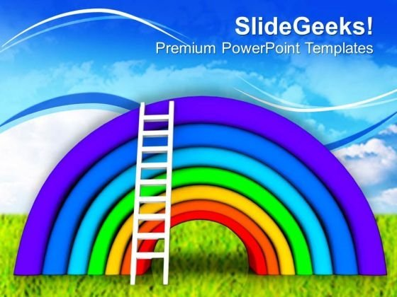 Beautiful Rainbow Colorful Theme PowerPoint Templates Ppt Backgrounds For Slides 0613