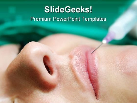 Beauty Bottox Treatment Medical PowerPoint Templates And PowerPoint Backgrounds 0411