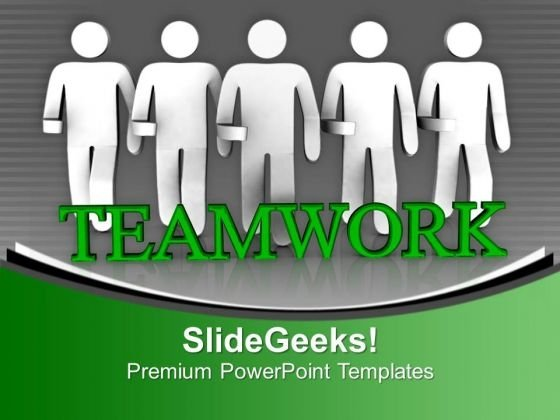 Believe In Team Efforts For Financial Growth PowerPoint Templates Ppt Backgrounds For Slides 0713