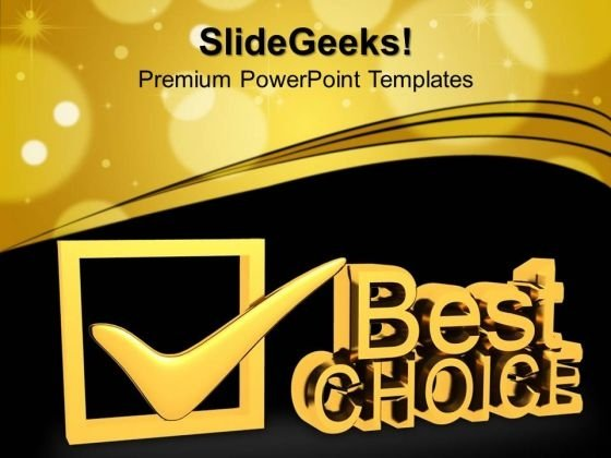 Best Choice Symbol PowerPoint Templates And PowerPoint Themes 1012