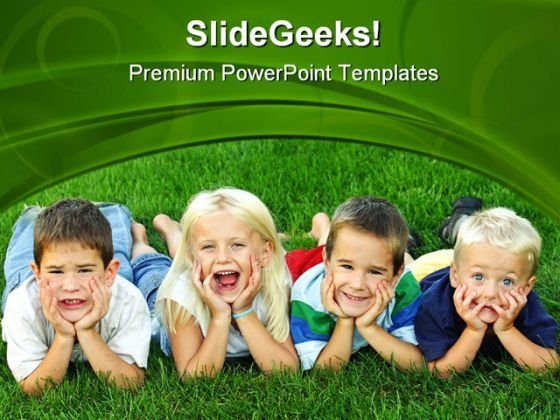 Best Friends Children PowerPoint Themes And PowerPoint Slides 0411
