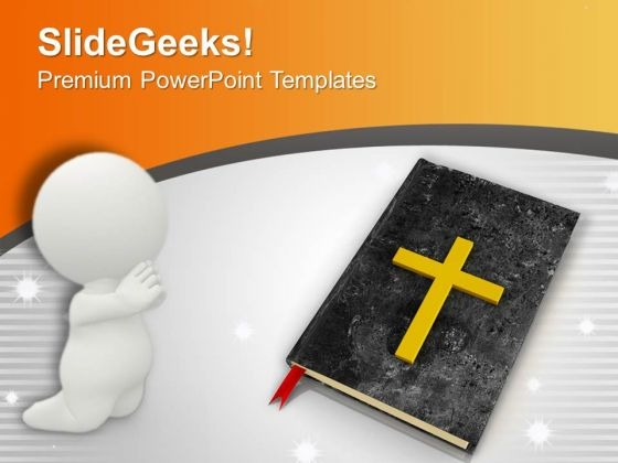 bible and cross background faithful powerpoint templates ppt