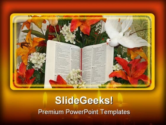 Bible And Dove Religion PowerPoint Themes And PowerPoint Slides 0411