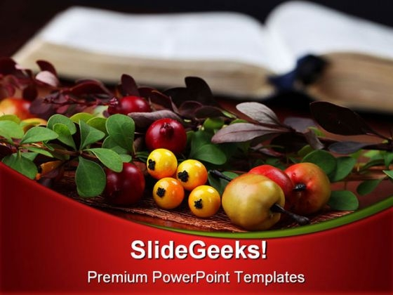 Bible And Thanksgiving Religion PowerPoint Backgrounds And Templates 0111
