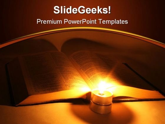 Bible Religion PowerPoint Template 0610