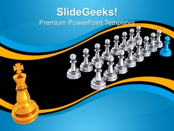 Big Golden King Leadership PowerPoint Templates And PowerPoint Themes 0812