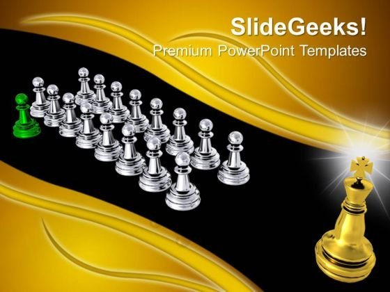 Big Golden King Teamwork PowerPoint Templates And PowerPoint Themes 0912