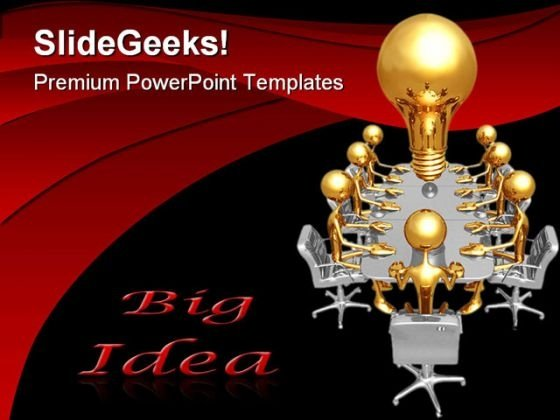 Big Idea Meeting Business PowerPoint Themes And PowerPoint Slides 0511