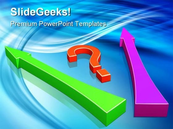 Big Question And Arrows Shapes PowerPoint Templates And PowerPoint Backgrounds 0211