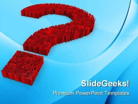 Big Question Metaphor PowerPoint Templates And PowerPoint Backgrounds 0511