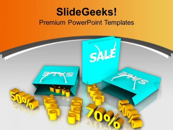 Big Sale Is On From 20 To 70 Percent PowerPoint Templates Ppt Backgrounds For Slides 0313