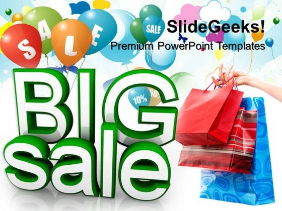 Big Summer Sale Lifestyle PowerPoint Templates And PowerPoint Themes 0812
