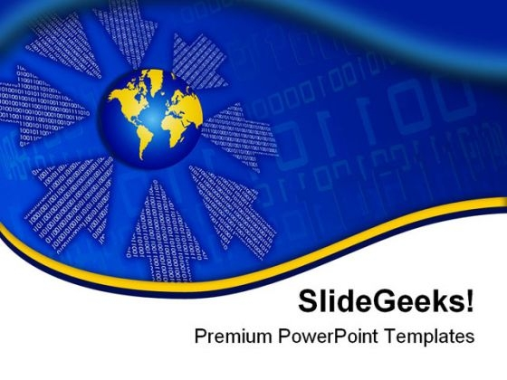 Binary Flow Global PowerPoint Templates And PowerPoint Backgrounds 0411