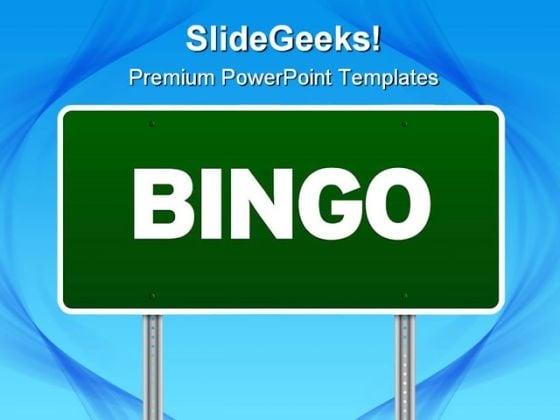 bingo highway signpost metaphor powerpoint templates and, Modern powerpoint