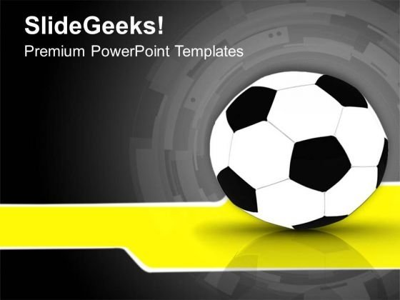 Black And White Football Game Theme PowerPoint Templates Ppt Backgrounds For Slides 0413