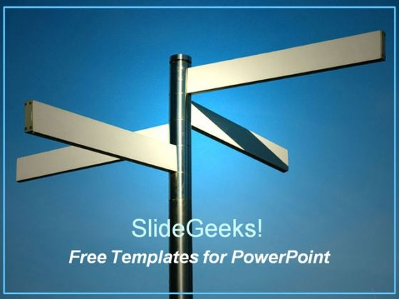 Multi-Directional Sign Board PPT Template