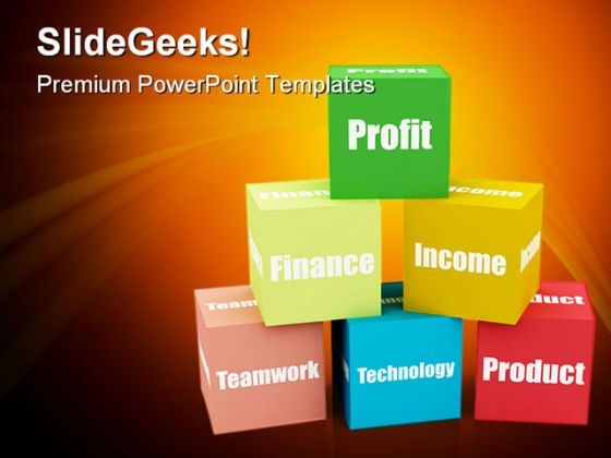 Blocks Business PowerPoint Backgrounds And Templates 0111