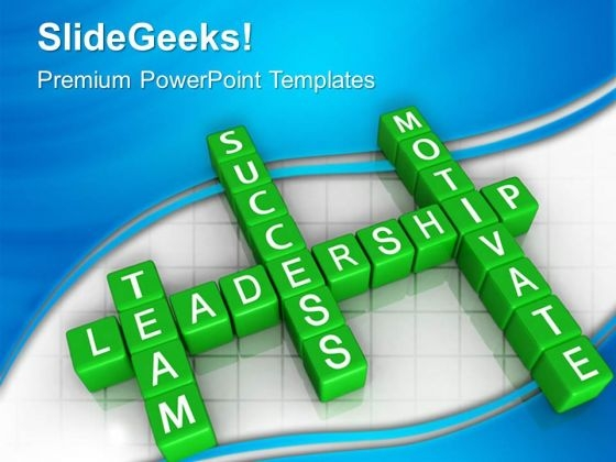 Blocks Team Motivate Leadership PowerPoint Templates And PowerPoint Themes 0612