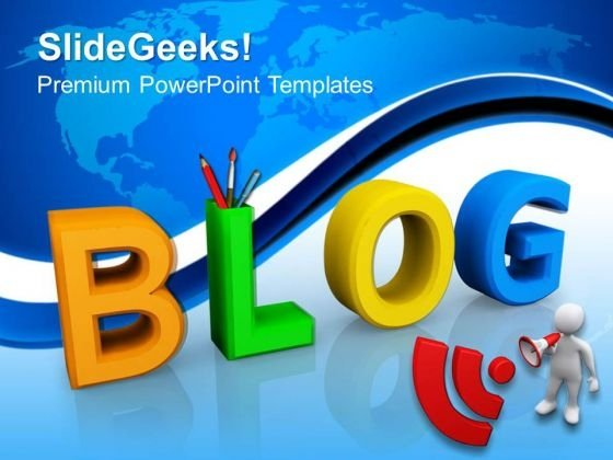Blog Art PowerPoint Templates And PowerPoint Themes 0812