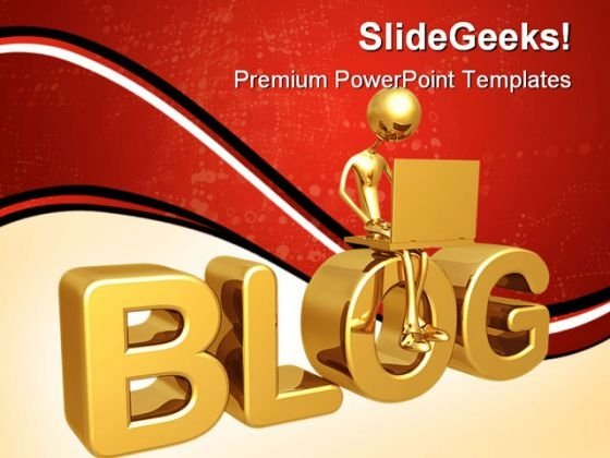 Blog Computer PowerPoint Themes And PowerPoint Slides 0411