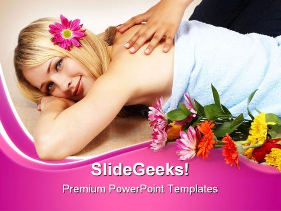 Blond Woman Spa Beauty PowerPoint Themes And PowerPoint Slides 0311