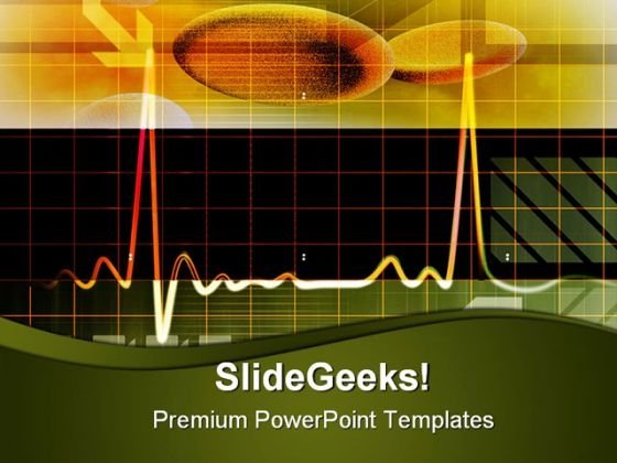 Blood Cells With Ecg Medical PowerPoint Themes And PowerPoint Slides 0211
