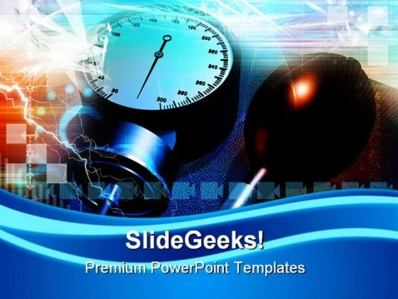 Blood Pressure Checking Medical PowerPoint Themes And PowerPoint Slides 0311