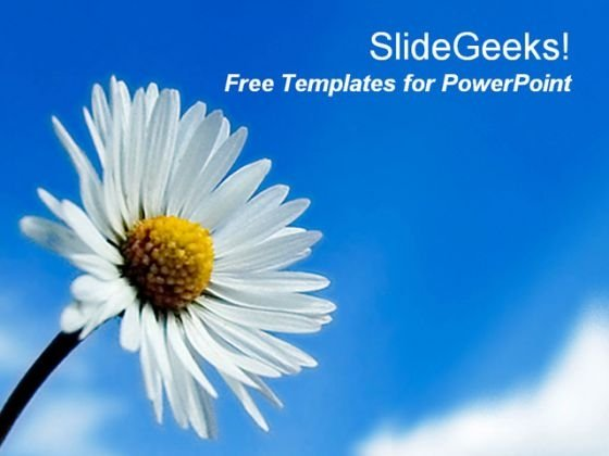 Bloom White Flower PowerPoint Template