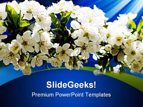 Blooming Flowers Nature PowerPoint Templates And PowerPoint Backgrounds 0311