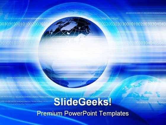 Blue Abstract Background Globe PowerPoint Templates And PowerPoint Backgrounds 0111