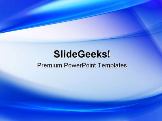 Blue Abstract PowerPoint Template 0910