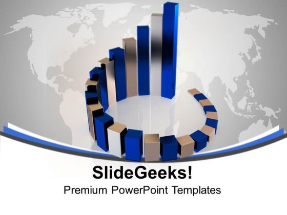 Blue And Gray Bars Business PowerPoint Templates And PowerPoint Themes 1012