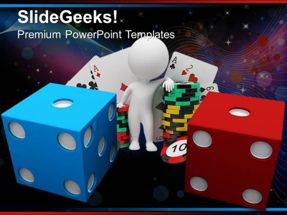 Blue And Red Dice Game PowerPoint Templates And PowerPoint Themes 0712