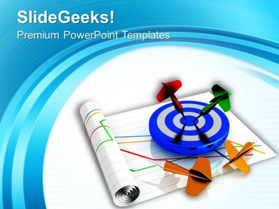 Blue And White Target Success PowerPoint Templates Ppt Backgrounds For Slides 0713