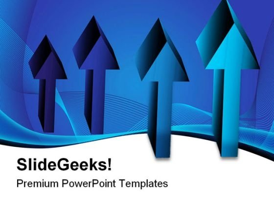 Blue Arrow Chart Symbol PowerPoint Themes And PowerPoint Slides 0511