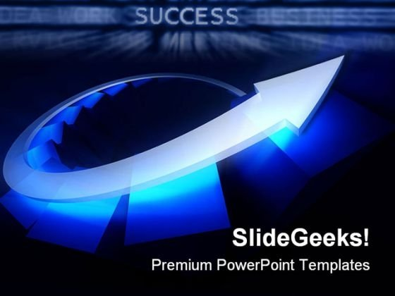 Blue Arrow Success PowerPoint Templates And PowerPoint Backgrounds 0511