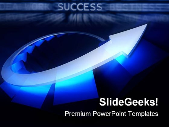 Blue Arrow Success PowerPoint Themes And PowerPoint Slides 0511