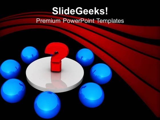 Blue Balls In Circle With Question Mark PowerPoint Templates Ppt Backgrounds For Slides 0313