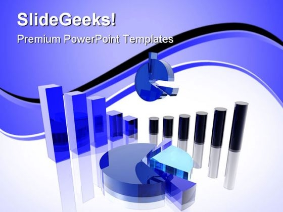 Blue Charts Business PowerPoint Themes And PowerPoint Slides 0511