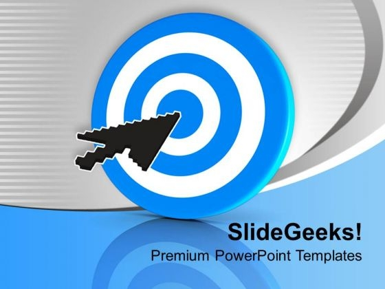 Blue Dart With Target Arrow PowerPoint Templates Ppt Backgrounds For Slides 0313