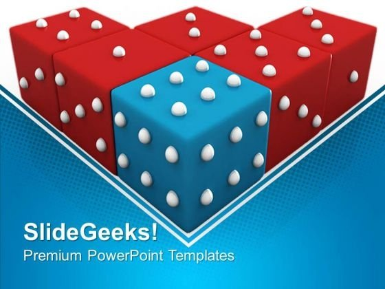 Blue Dice Winning Sports PowerPoint Templates And PowerPoint Themes 0612