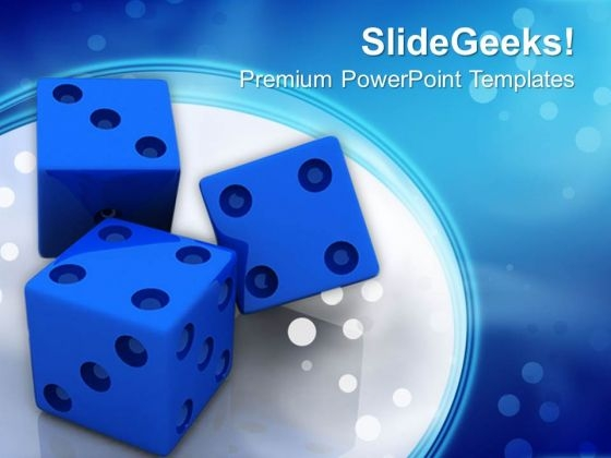 Blue Dices Finance Business PowerPoint Templates And PowerPoint Themes 0612