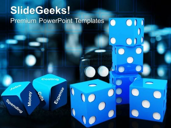 Blue Dices Game PowerPoint Templates And PowerPoint Themes 0912